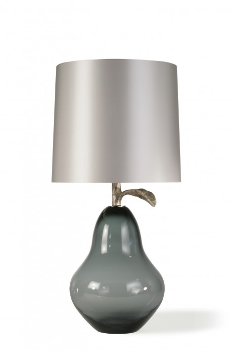 Pear Lamp | Charcoal with Very Decayed Silver