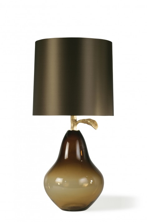 Pear Lamp | Assam with Decayed Gold