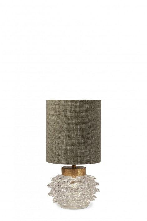 Hedgehog Lamp | Clear with Gold collar