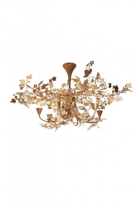 Large Ivy Shadow Chandelier | Forest Gold