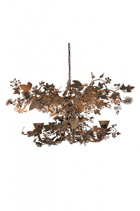 Small Ivy Chandelier | Forest Rust