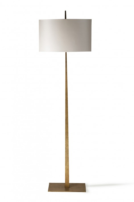 Tapering Harral Floor Lamp | French Brass