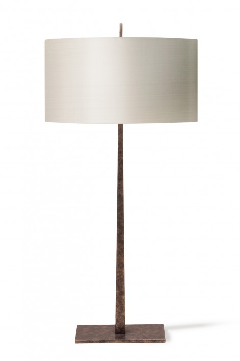 Large Tapering Harral Lamp | Burnt Silver