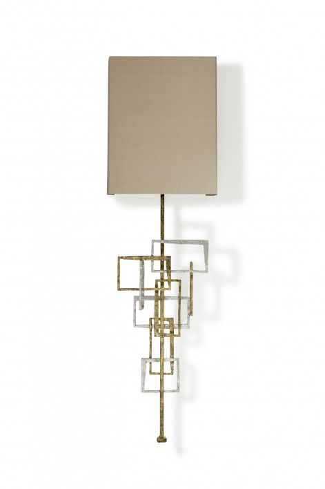 Kinetic Wall Light   Gurney Gold with Burnished Silver