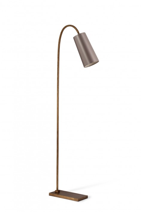 Willow Floor Lamp | French Brass