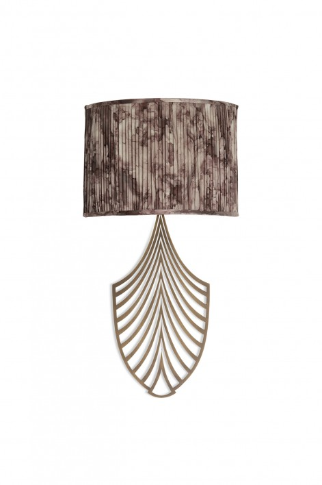 Plume Bathroom Wall Sconce   Antiqued Brass