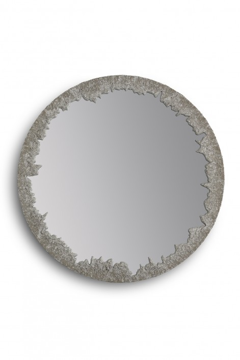 Crater Mirror | Crater Silver